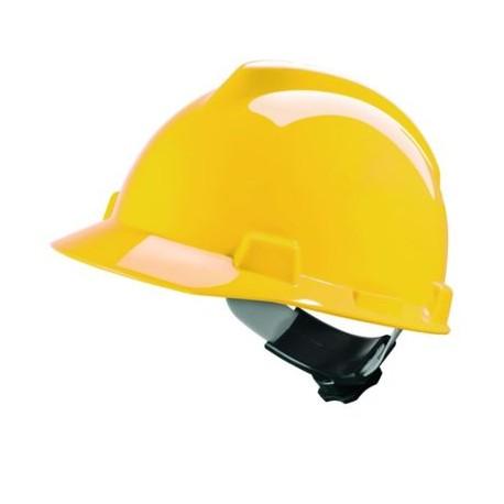 Hełm przemysłowy V-Gard HDPE, więźba Fas-Trac III