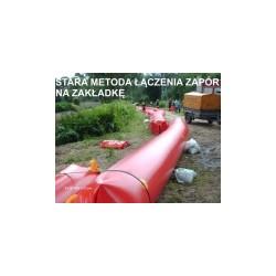 Zapora przeciwpowodziowa z PCV - 80 cm /15 m (rękaw napełniany wodą)