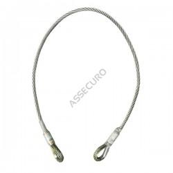 Linka bezpieczeństwa stalowa, nierdzewna 1,0m CJ100/L-010