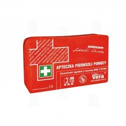 Apteczka samochodowa CLASSIC PLUS Vera saszetka czerwona zawartość DIN 13164 PLUS