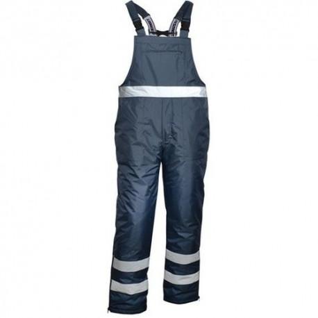 Ocieplane spodnie robocze na szelkach granatowe Vizwell VWJK113N