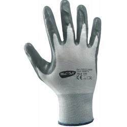 Bezszwowe rękawice 13 ECO-NBR poliestrowe z powłoką nitrylową Boxer 353073
