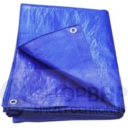 Plandeka zabezpieczająca 60g/m2 niebieska gramatura około -różne wymiary